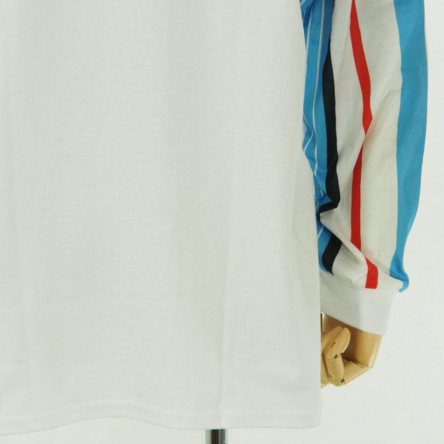NOMA t.d. - Stripe Sleeve L/S Tee - White / Sky N Stripe