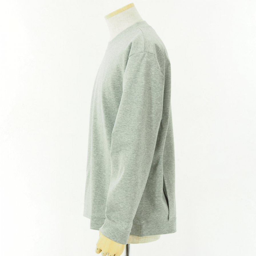 STILL BY HAND - Dry Touch L/S Tee - Grey