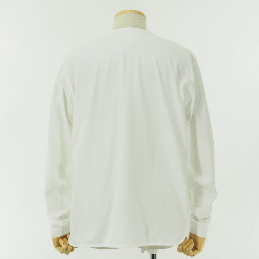 STILL BY HAND - Big Pocket L/S Tee - Off White
