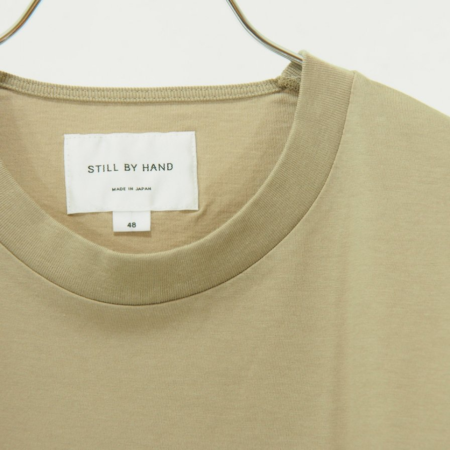 STILL BY HAND スティルバイハンド - Big Pocket L/S Tee - Beige