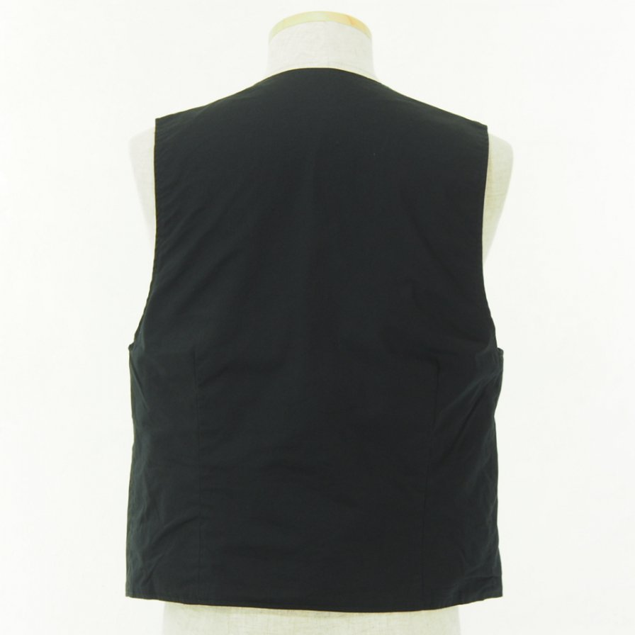 Engineered Garments - Reversible Vest - High Count Twill - Blk & Blk / Brn Paisley