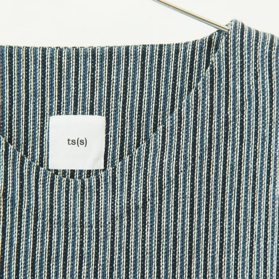ts(s) - Combination Stripe Cotton Jacquard Jersey - Easy Vest - Blue