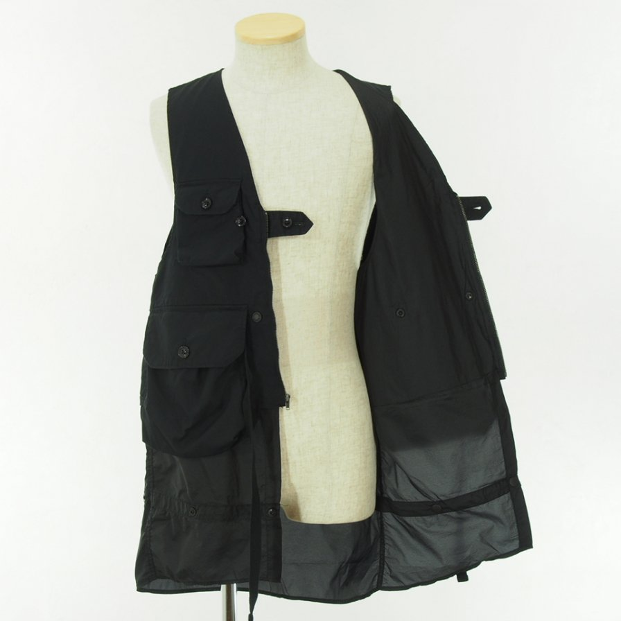 Engineered Garments - Game Vest - High Count Twill - Black