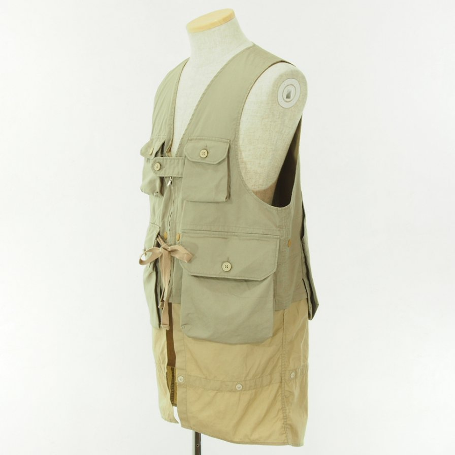 Engineered Garments - Game Vest - High Count Twill - Khaki