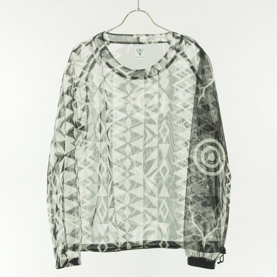 South2 West8 - Bush Crew Neck Shirt - Poly Lightweight Mesh - Skull & Target