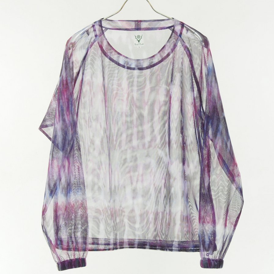 South2 West8 - Bush Crew Neck Shirt - Poly Lightweight Mesh - Tie Dye