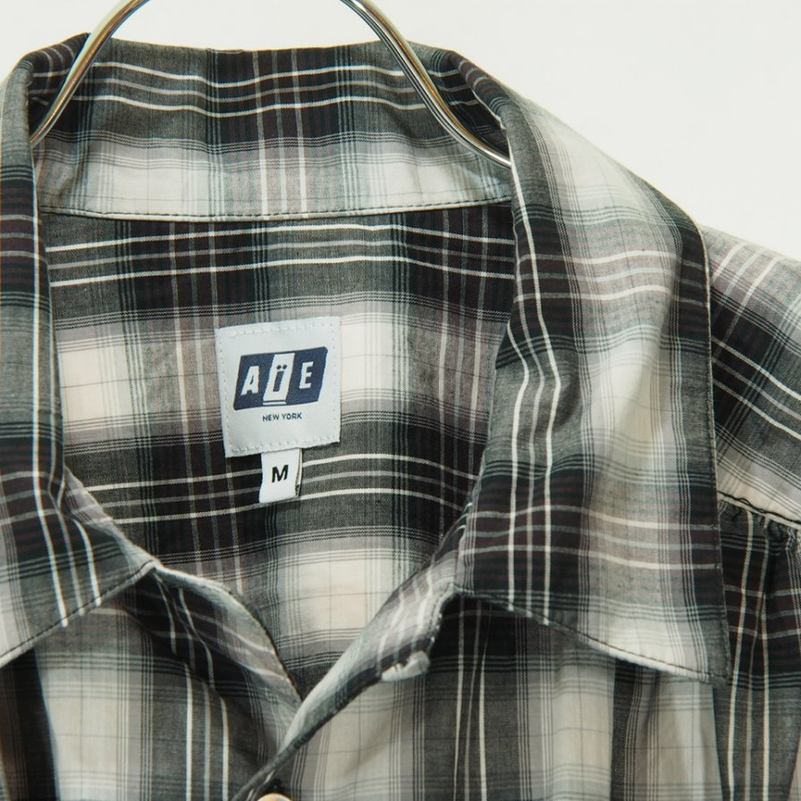 AiE - Painter Shirt - Shadow Plaid - Black/White/Purple