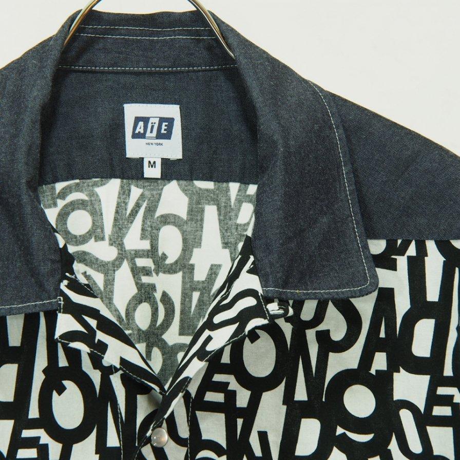 AiE - Coach Shirt - Lt.Weight Denim - Dk.Indigo