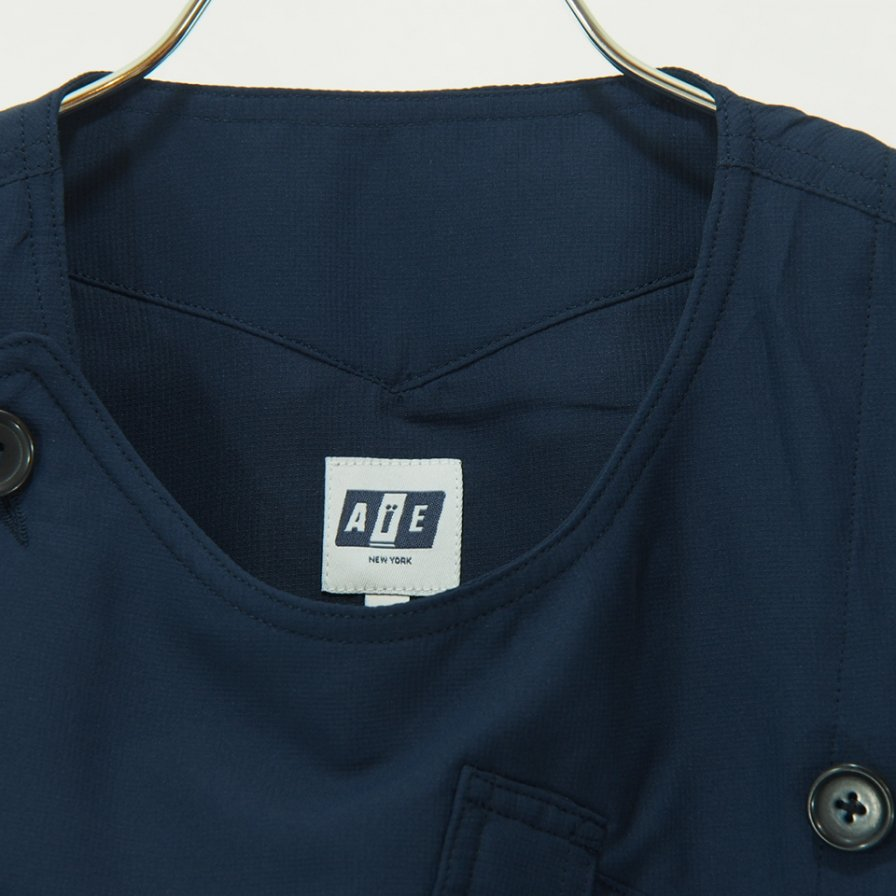 AiE エーアイイー - RD Vest - Sanded Polyester Microfiber - Navy