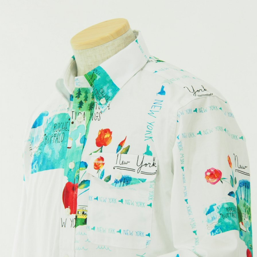 EG WORKADAY イージーワーカデイ - BD Shirt - Cotton Print - NYC