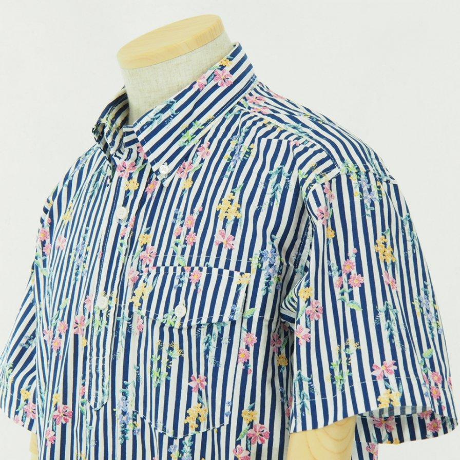 Engineered Garments - Popover BD Shirt - Floral St. Print - Navy