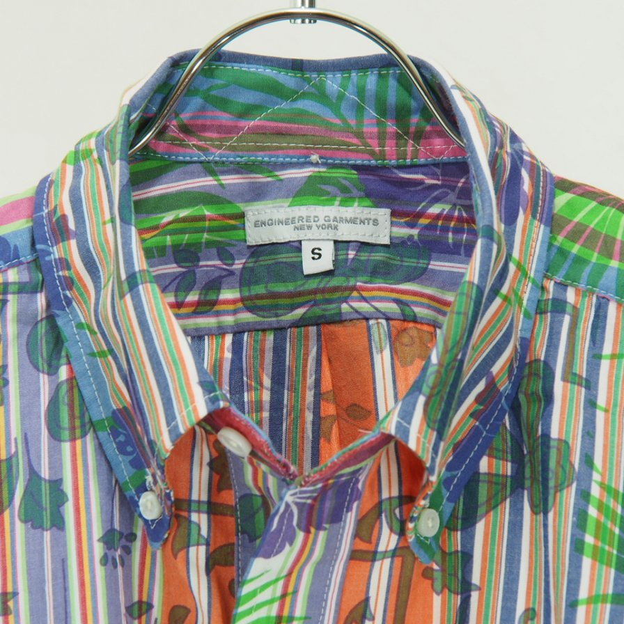 Engineered Garments - Popover BD Shirt - Floral Printed on St. - Multi Color