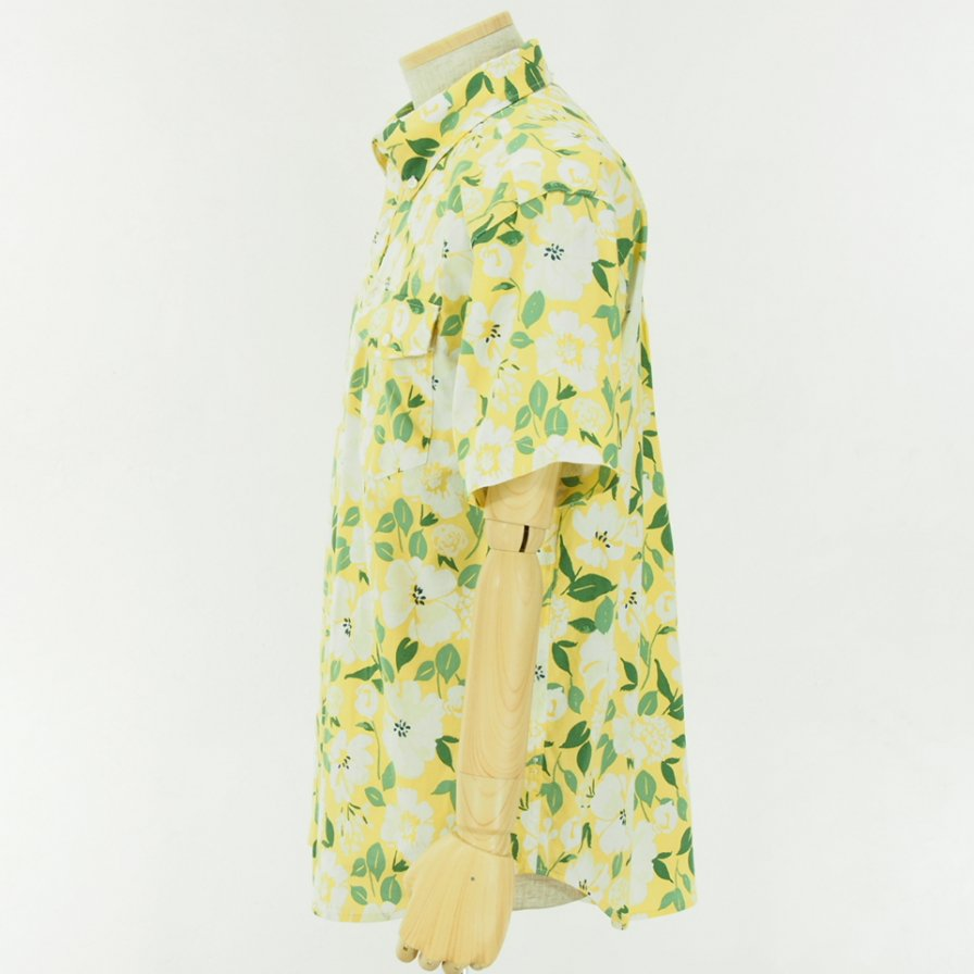 Engineered Garments - Popover BD Shirt - Floral Print - Yellow