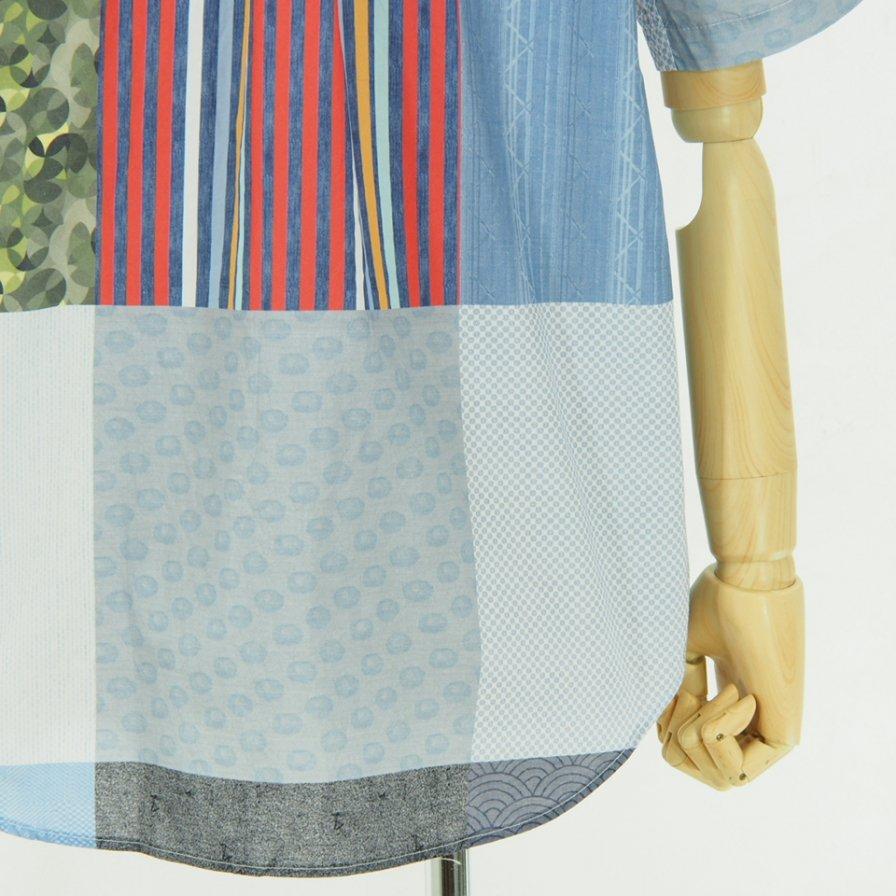 Engineered Garments - Popover BD Shirt - Random Square Patchwork Print - Multi