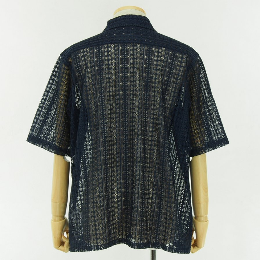 conspires - Laced Short Sleeve Shirt - Navy