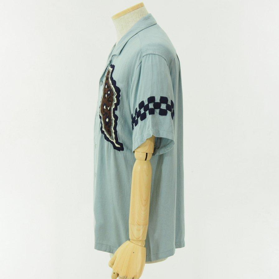 NOMA t.d. ノーマティーディー - Paisley Emb Shirt - Sky