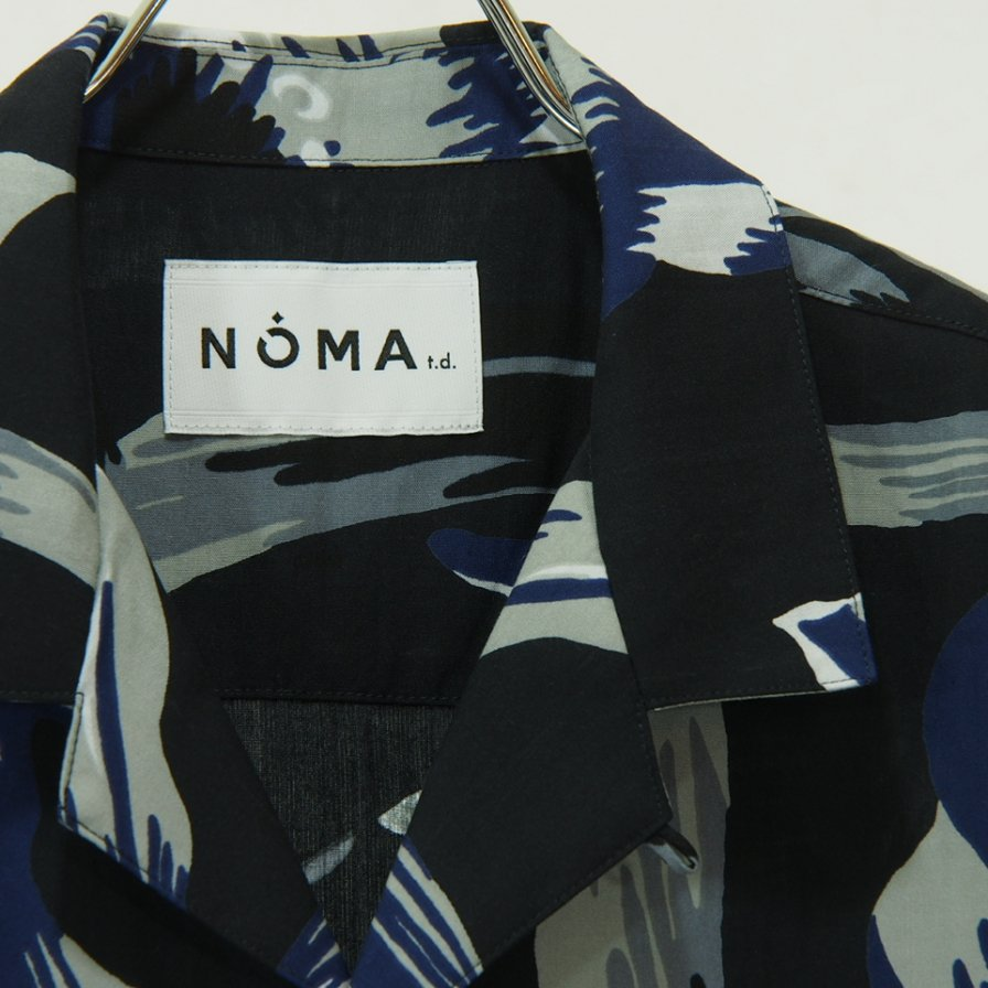 NOMA t.d. - Summer Shirt - Floral of Memories - Grey