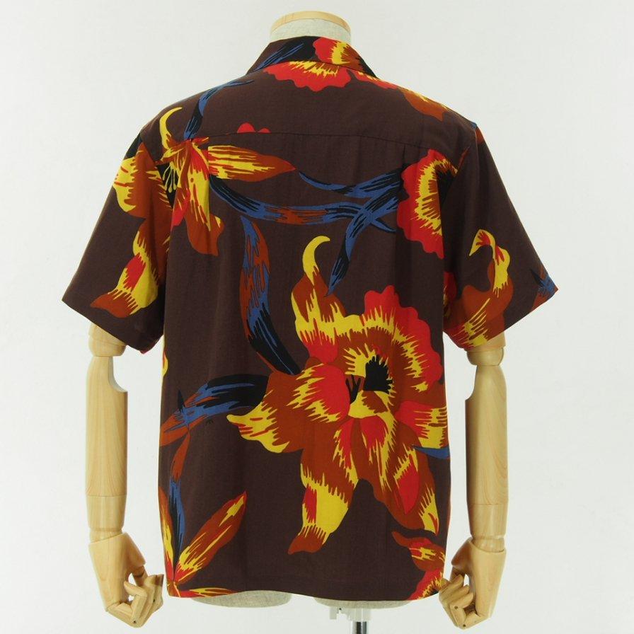 NOMA t.d. - Summer Shirt - Floral of Memories - Brown