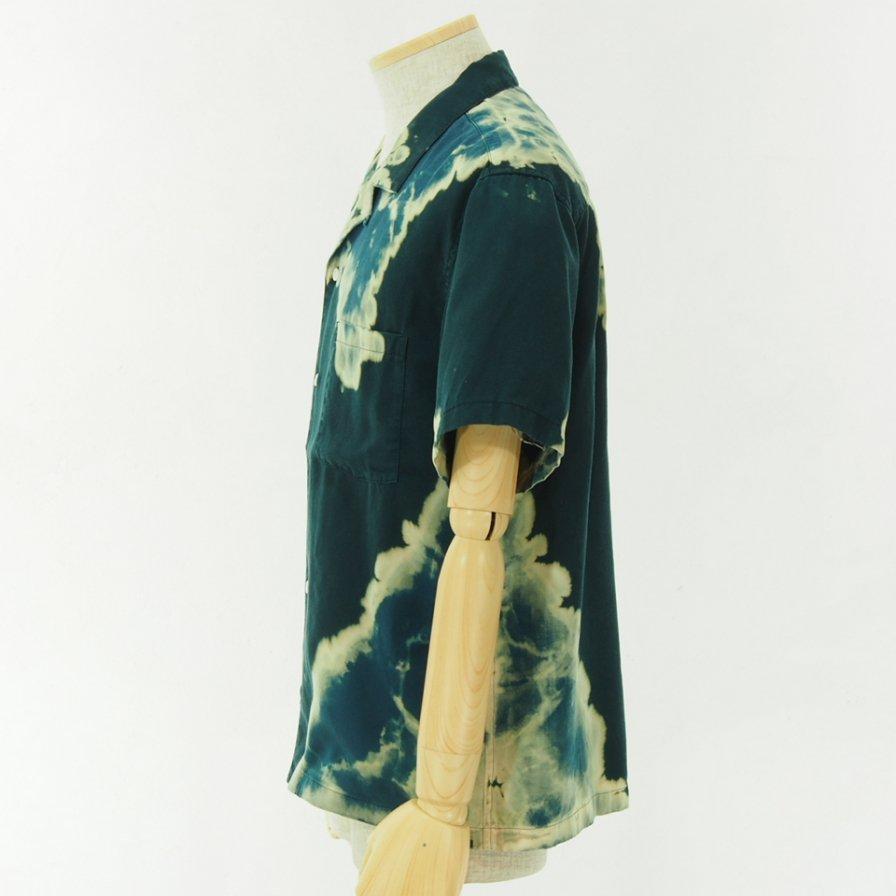 NOMA t.d. - Bleach S/S Shirt - Green