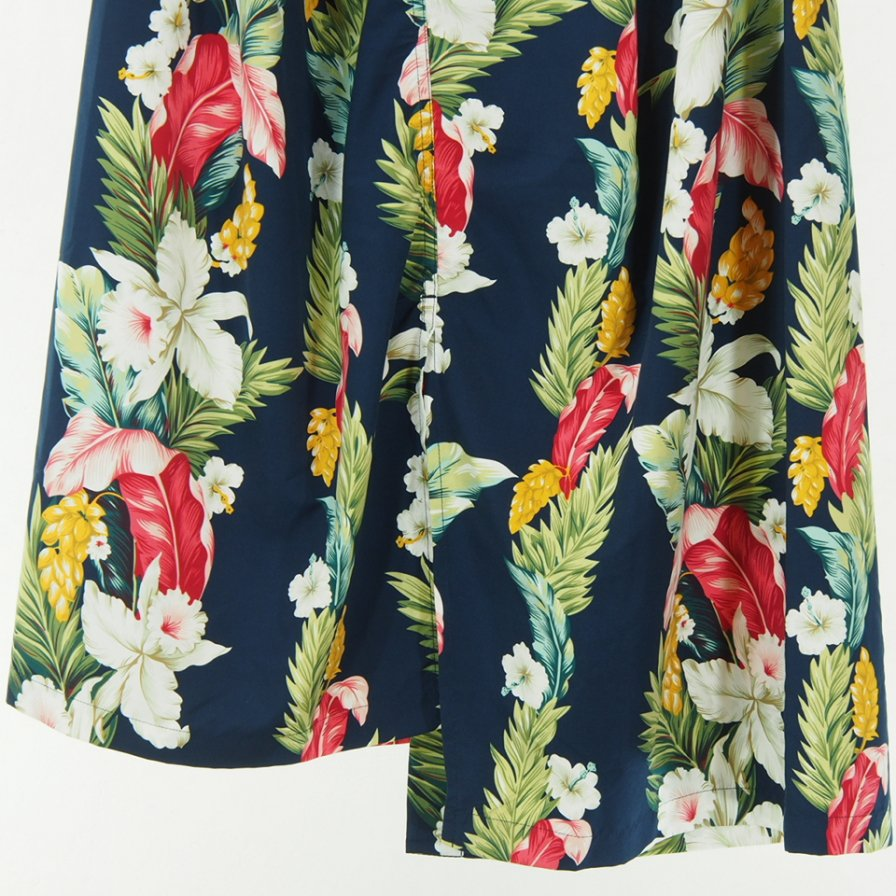 Engineered Garments Women - Tuck Skirt - Hawaiian Floral Microfiber