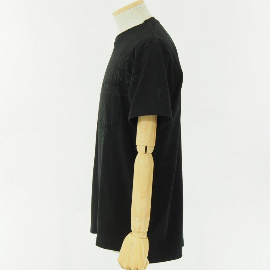 Engineered Garments - Printed Cross Crew Neck T shirt - Spiral - Black