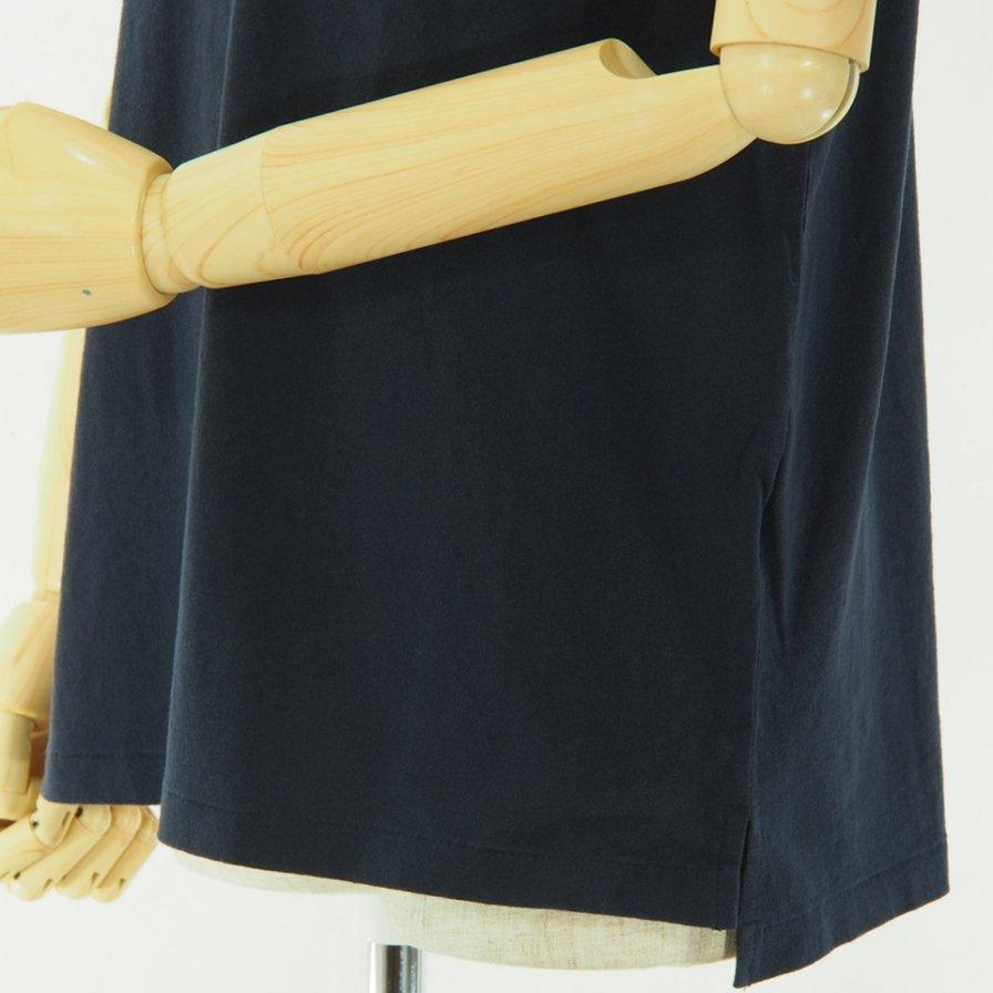 Engineered Garments - Printed Cross Crew Neck T shirt - Music - Navy