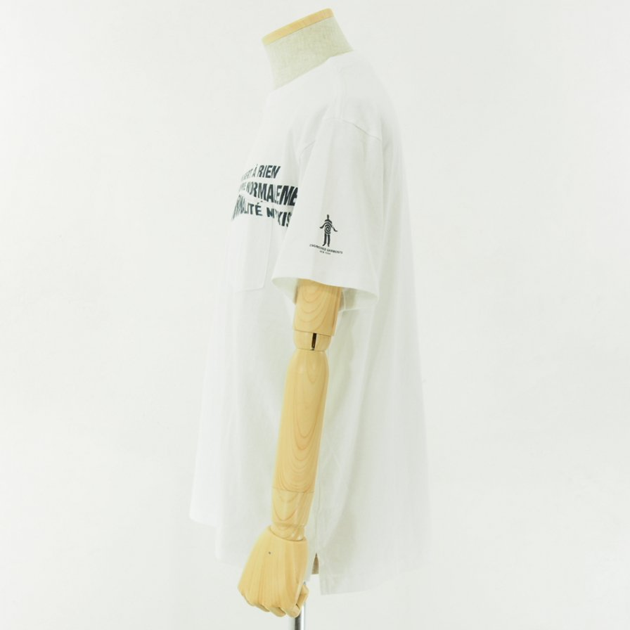 Engineered Garments - Printed Cross Crew Neck T shirt - Normal - White
