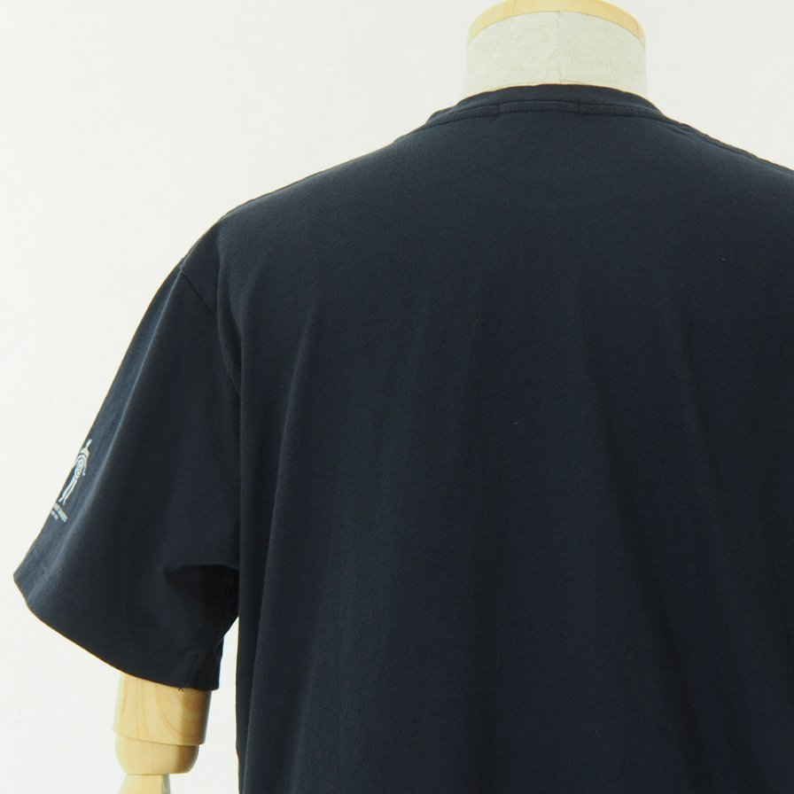 Engineered Garments - Printed Cross Crew Neck T shirt - Normal - Navy