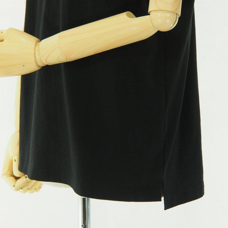 Engineered Garments - Printed Cross Crew Neck T shirt - Normal - Black