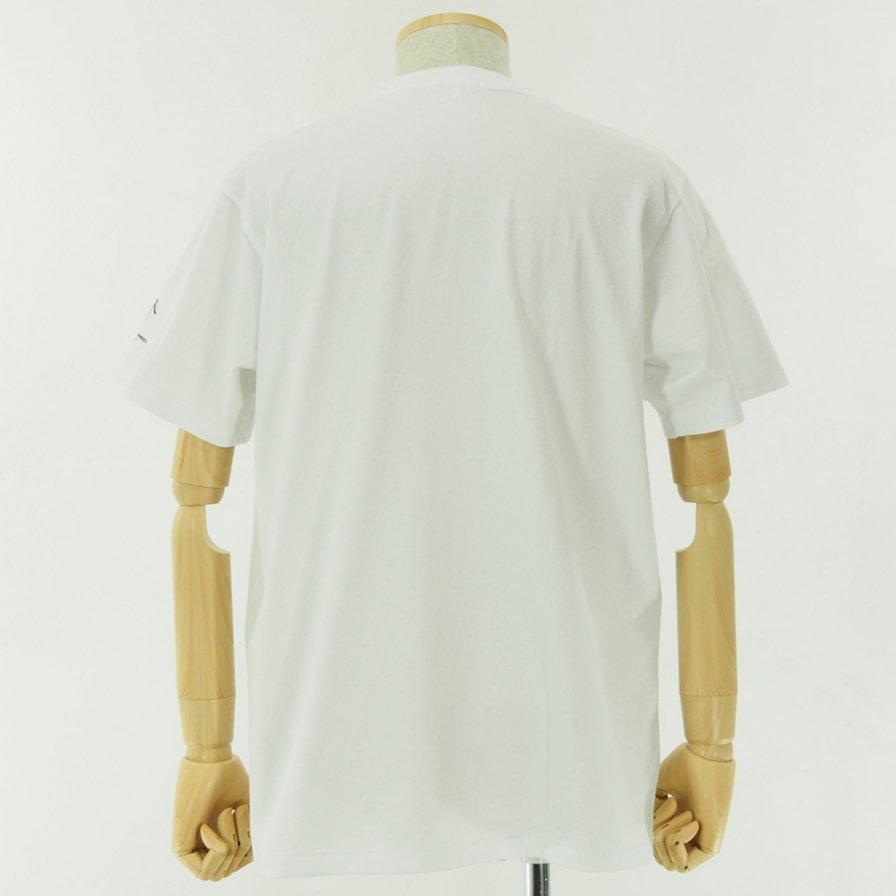 Engineered Garments - Printed Cross Crew Neck T shirt - Vernon - White