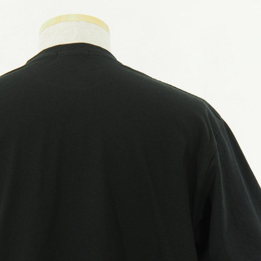 Engineered Garments - Printed Cross Crew Neck T shirt - Vernon - Black