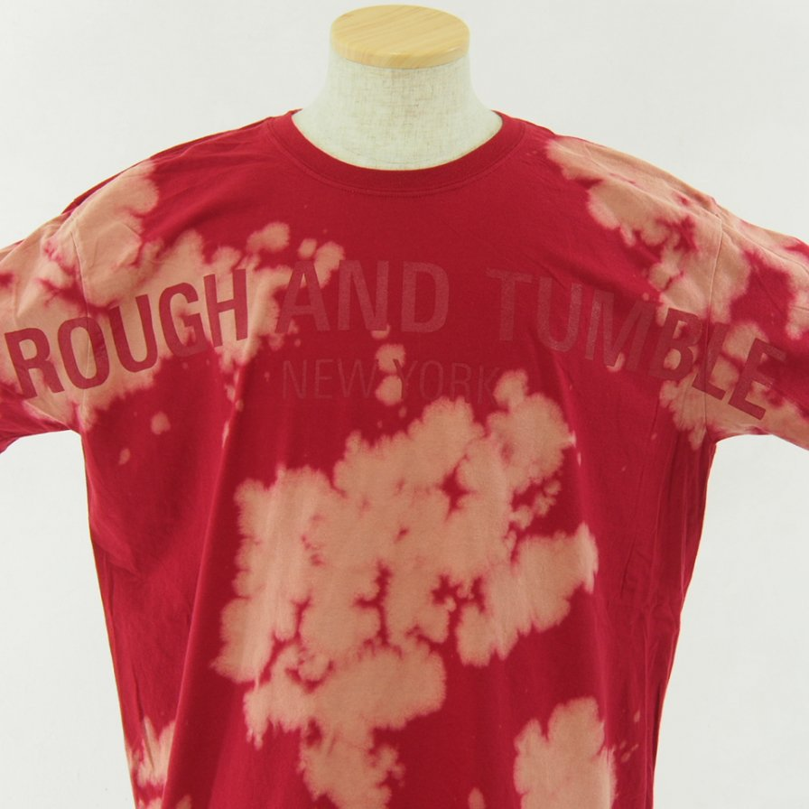 RANDT アールアンドティ - Logo S/S Tie Dye T-Shirt - Red / Beige