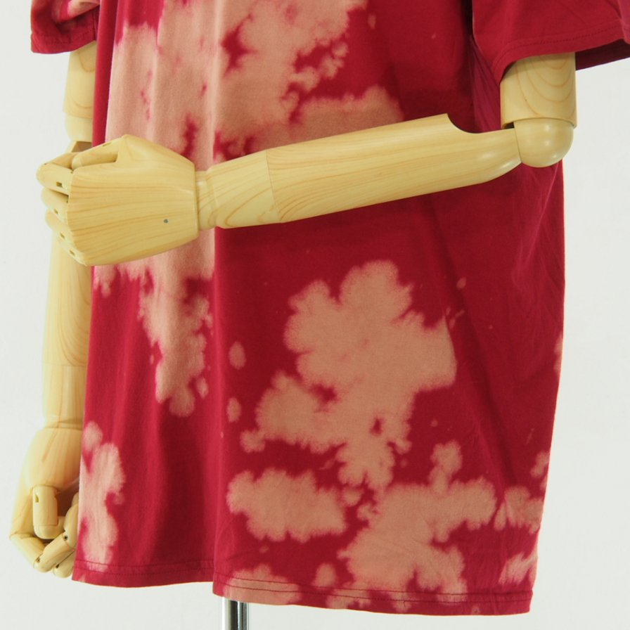 RANDT - Logo S/S Tie Dye T-Shirt - Red / Beige