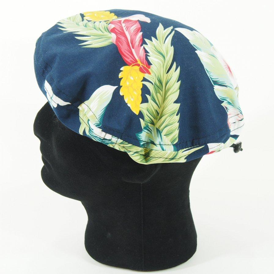 Engineered Garments - Beret - Hawaiian Floral Microfiber - Navy