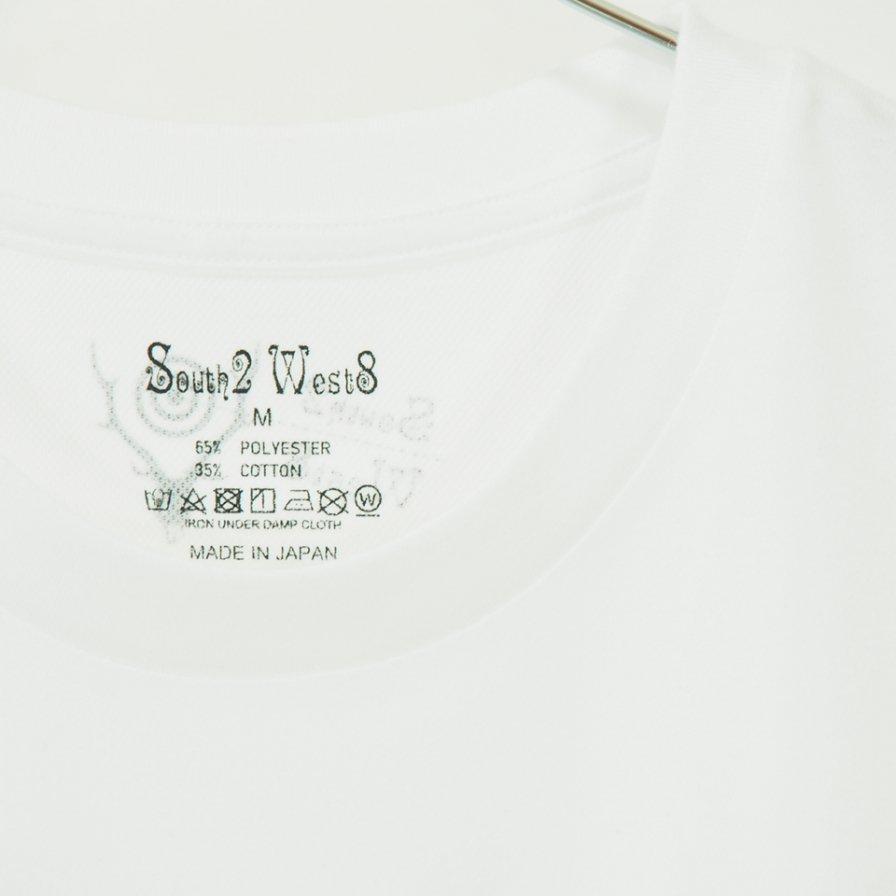 South2 West8 - S/S Crew Neck Tee - Pe/C Jersey - SONGBIRD - White