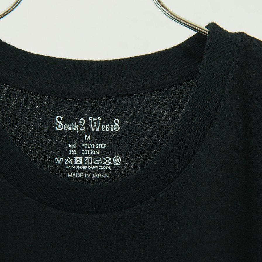 South2 West8 - S/S Crew Neck Tee - Pe/C Jersey - SONGBIRD - Black