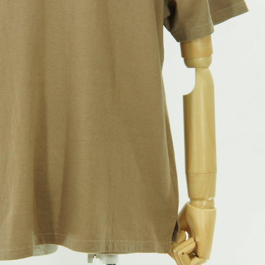 CORONA コロナ - Basic Pocket Tee - Cotton Rayon Jersey - Khaki