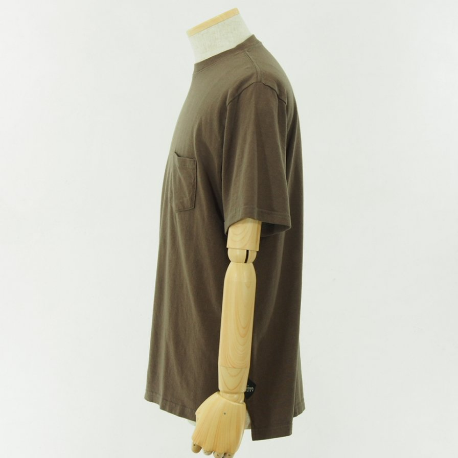 CORONA - Basic Pocket Tee - Cotton Rayon Jersey - Brown