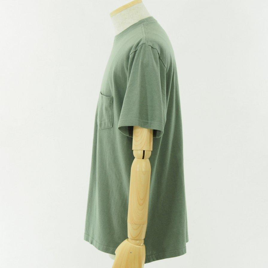 CORONA コロナ - Basic Pocket Tee - Cotton Rayon Jersey - Sea Green