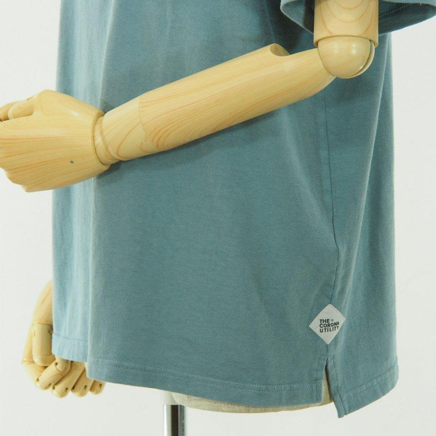 CORONA コロナ - Basic Pocket Tee - Cotton Rayon Jersey - Dark Ice