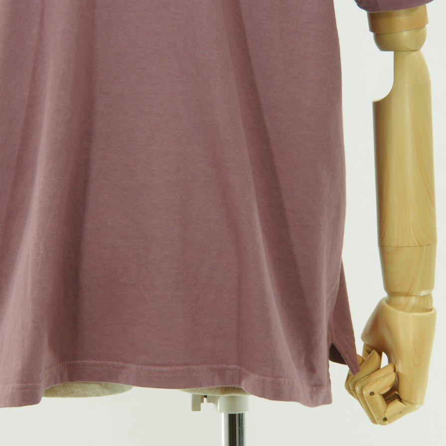 CORONA - Basic Pocket Tee - Cotton Rayon Jersey - Dark Pink