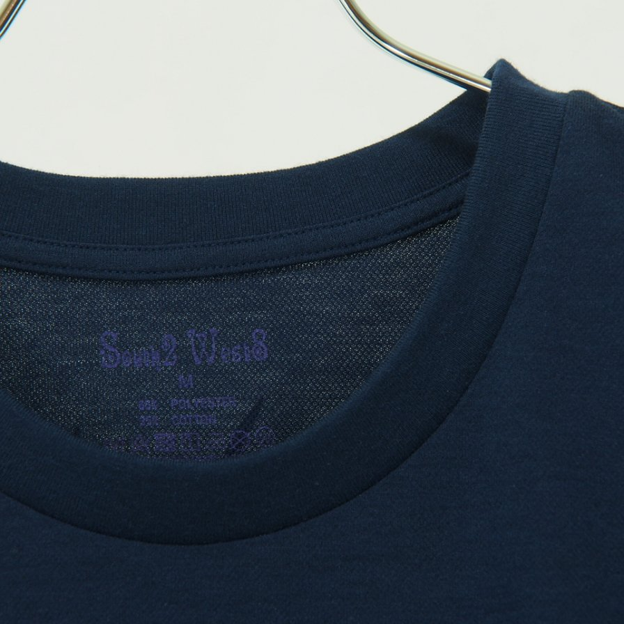 South2 West8 - Round Pocket Tee - Pe/C Jersey - Circle Horn - Navy