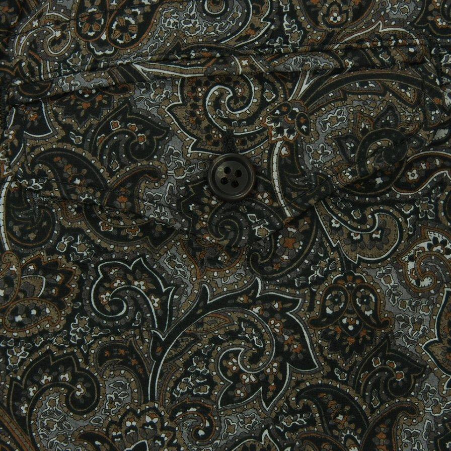 Engineered Garments - Ghurka Short - Paisley Print - Black / Brown
