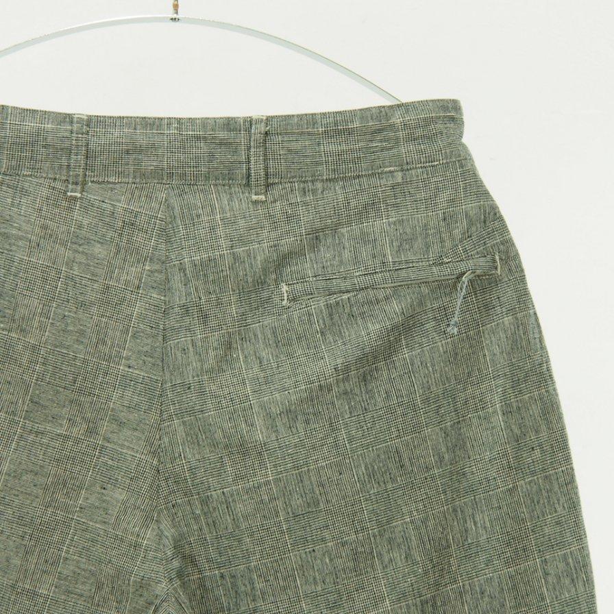 Engineered Garments エンジニアドガーメンツ - Sunset Short - CL Glen Plaid - Grey