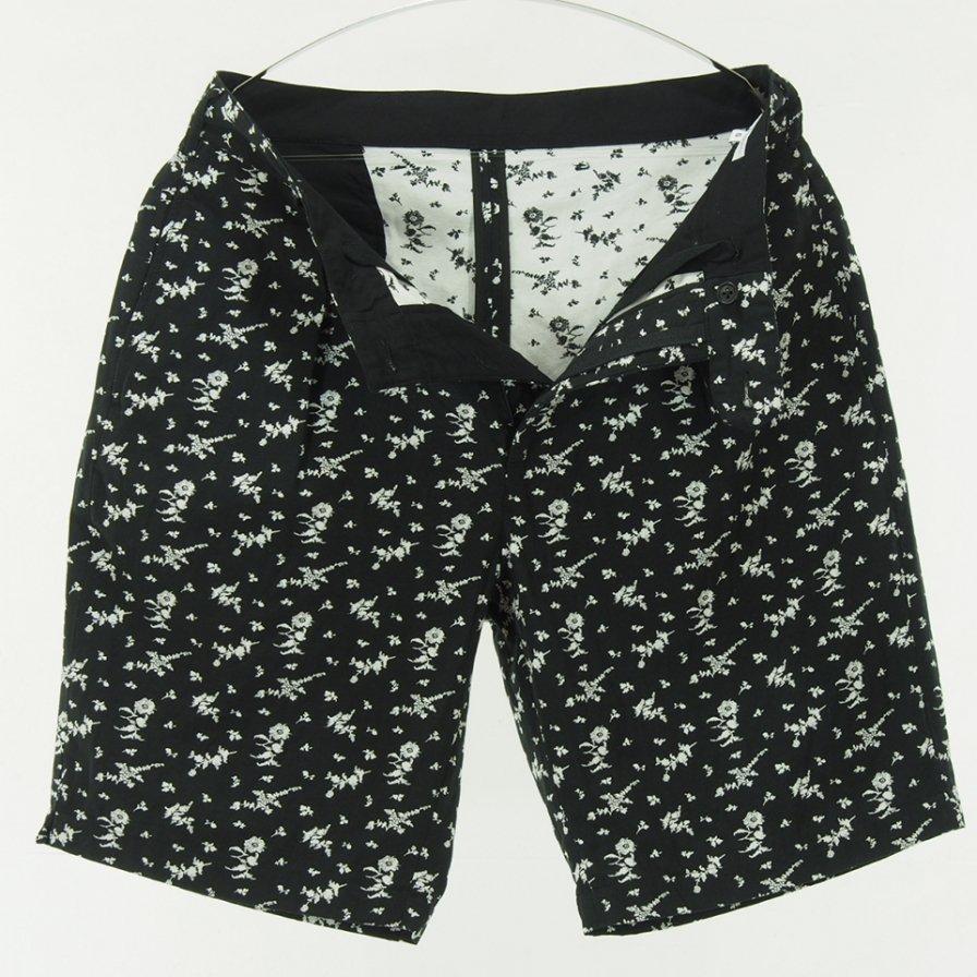 Engineered Garments - Sunset Short - Floral Jacquard - Black / White