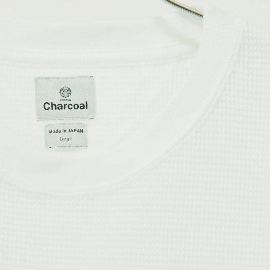 Charcoal - OC Waffle Crew W S/S - White