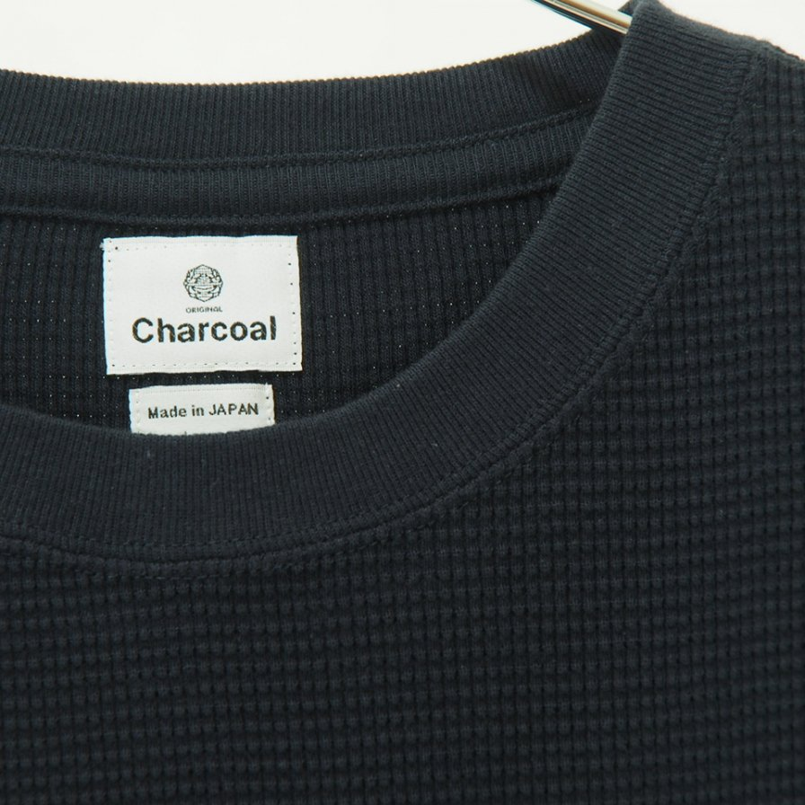 Charcoal - OC Waffle Crew W S/S - D.Navy