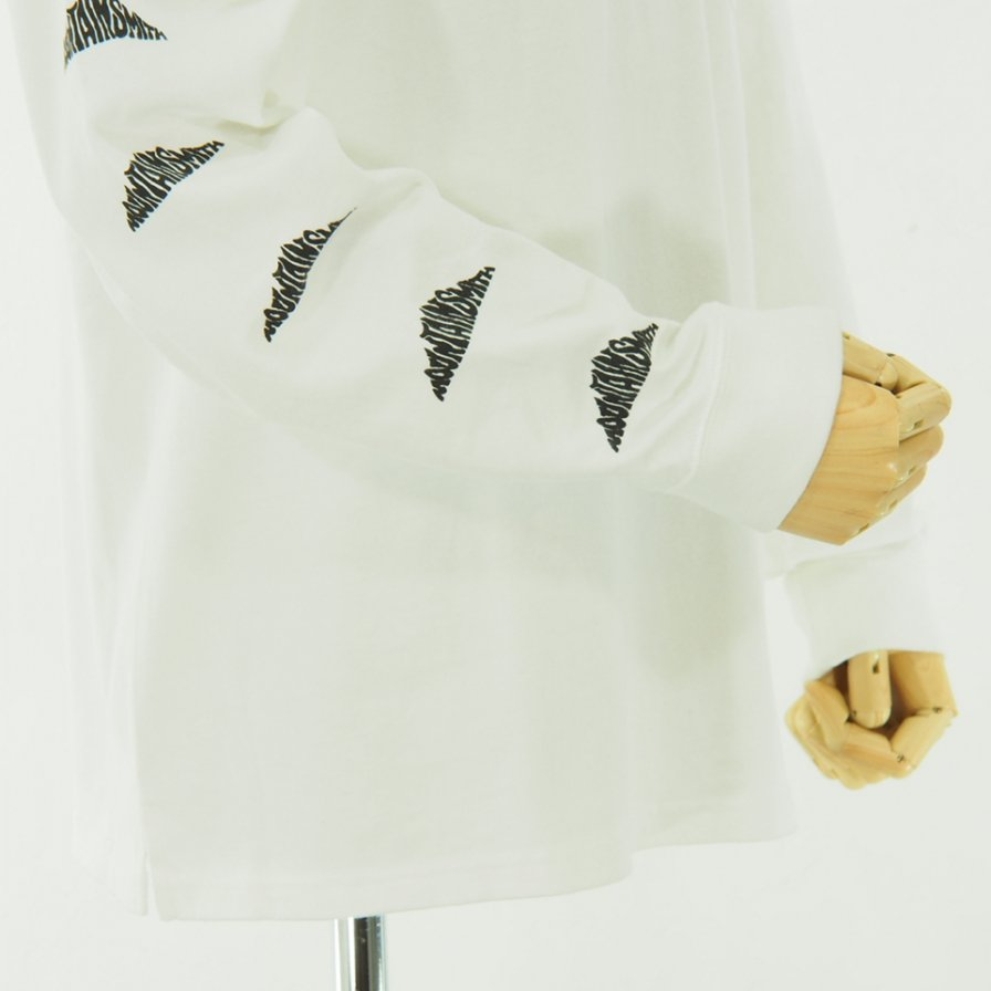 Moutain Smith マウンテンスミス - Small Print L/S Tee - Off White