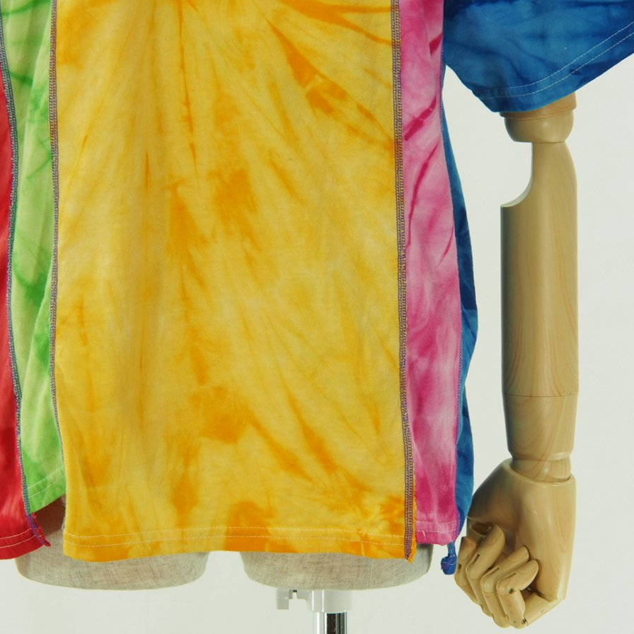Rebuild by Needles - 5 Cuts Tee - Tie Dye - Spider - Yellow