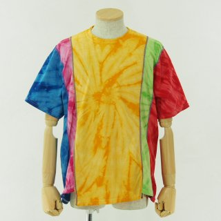 Rebuild by Needles リビルドバイニ−ドルズ - 5 Cuts Tee - Tie Dye - Spider - Yellow
